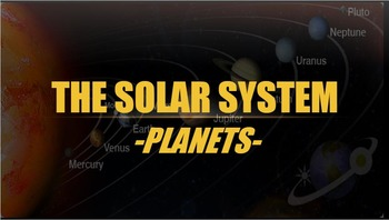 Planets Power Point and Activity Booklet English AND Spanish