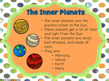 Planets PowerPoint and Notes Set