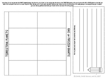 Planets Reading Comprehension Interactive Notebook
