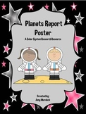 Planets Report Poster Set (Solar System Research Form)