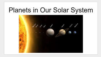 Planets Research Project for Google Classroom