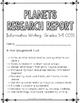 Planets Research Report: Multi-Draft Informative Writing f