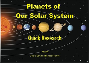 Planets Research - foldable