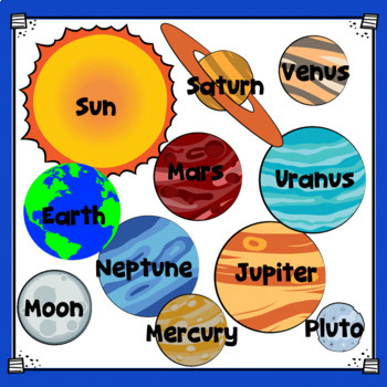 Planets - Solar System - Clip Art