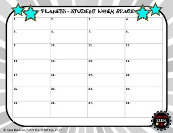 Planets Task Cards