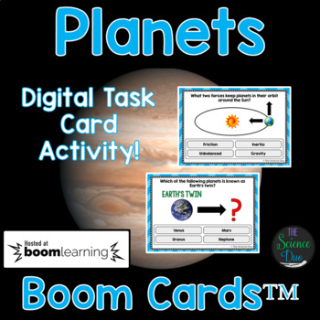 Planets Task Cards - Digital Boom Cards™