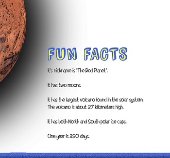 Planets The Solar System Fun Facts Flashcards NOW INCLUDES PLUTO!!
