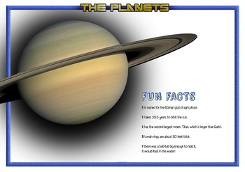 Planets The Solar System Fun Facts Flashcards NOW INCLUDES