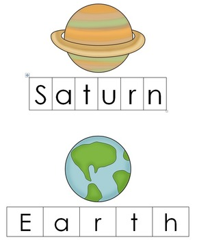 Letter P - Planets Thematic Unit (Solar System)