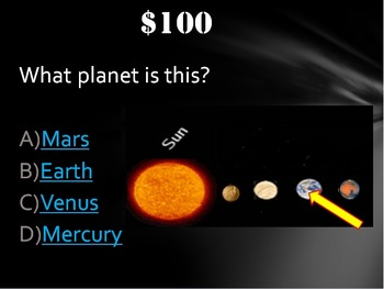Astronomy: Planets Trivia Game Like Jeopardy Fun Stuff!