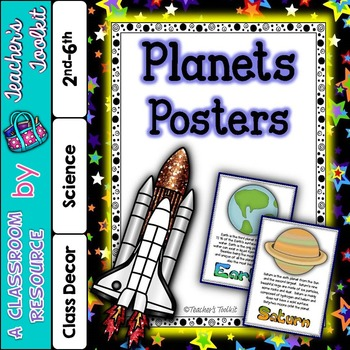 Planets Posters Display Set {UK Teaching Resource}