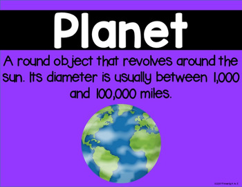 Planets Vocabulary Posters {PLUS Assessment!}