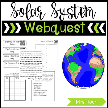 Planets Webquest Bundle