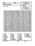 Planets Word Search Printable