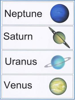 Planets Word Walls