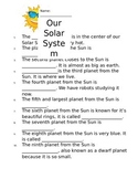Planets Worksheet from Second Grade