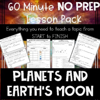 Planets and Earth's Moon NO PREP Lesson
