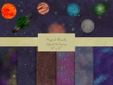 Planets and Papers Clipart Set, High Resolution 300ppi, Se