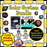 Planets and Solar System Bundle Close Reading and Text Dep