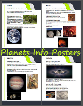 Planets and Solar System Information Handouts / Posters