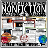 Solar System and Planets Reading Comprehension Passages and Questions 3rd Grade