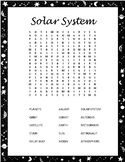 Planets and Solar System Word Search Bundle