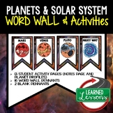 Planets and Solar System Word Wall and Activity Pages (Ear