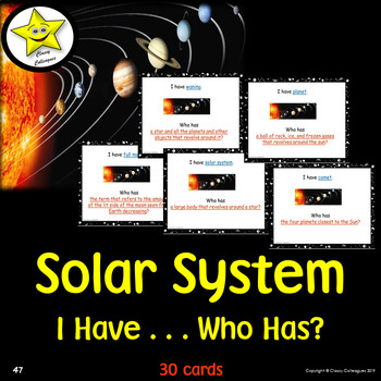 Solar System I Have Who Has