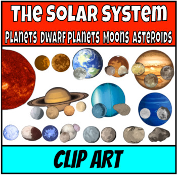 Planets and moons Clip Art