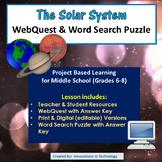 Planets and the Solar System  - WebQuest / Internet Scavenger Hunt
