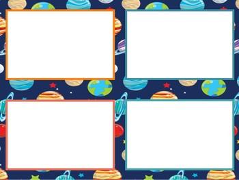 Planets class decor desk name plates