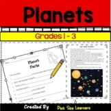 Planets Unit for 1st 2nd 3rd Grades | Solar System Activities | Science Reading
