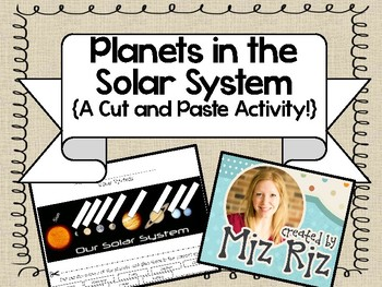 Planets in the Solar System {Cut and Paste Activity!}