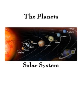 Solar System Vocab Cards- Hands on Visuals for Teaching/Le
