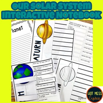 Planets of Our Solar System Interactive Notebook