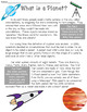 Planets of Our Solar System Nonfiction Reading Passages and Comprehension