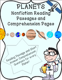 Planets of Our Solar System Nonfiction Reading Passages an