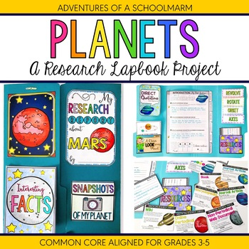 Planets of Solar System Research Lapbook Project - 3rd, 4th, 5th (Common Core)