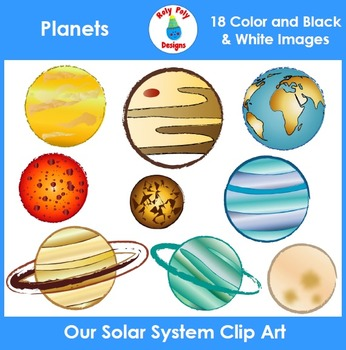 Planets of our Solar System Clip Art