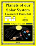 Planets of our Solar System Crossword Puzzle Set