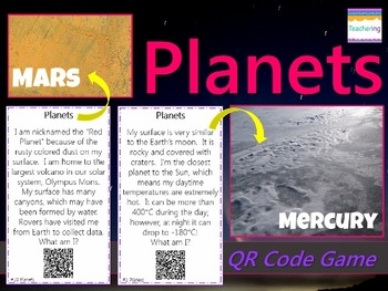 Planets of our Solar System Task Cards with QR Codes