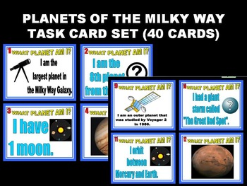 Planets of the Solar System Task Cards Set #1 (40 Cards)