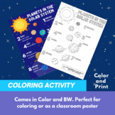 Planets of the Solar System | Coloring Activity | Craft |