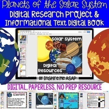 Planets of the Solar System Digital Research Project & Informational Text Book