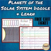 Planets of the Solar System Science Doodle Notes w/ FREE EXIT SLIP