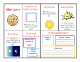 Planets of the Solar System Graphic Organizer Notes with P
