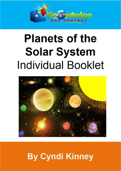 Planets of the Solar System Individual Booklet