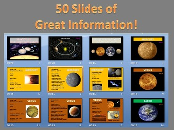 Planets of the Solar System Power Point (Space and Planets)