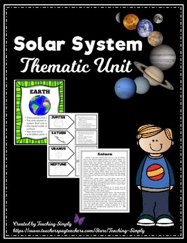 Solar System  - Our sun and planets - Thematic Unit for Elementary