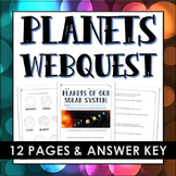 Planets of the Solar System - Webquest with Answer Key